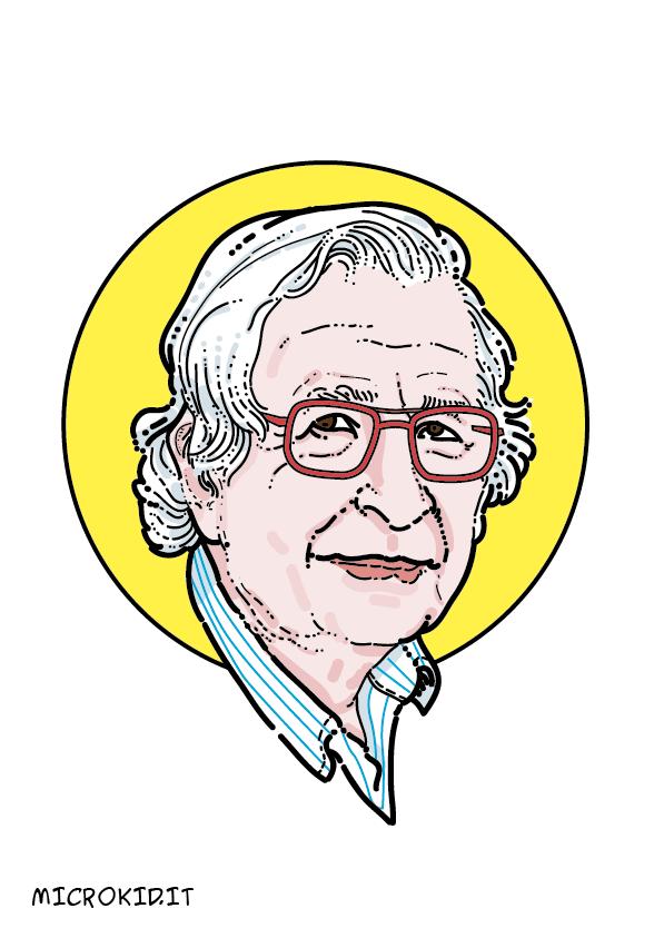 Noam Chomsky portrait ritratto